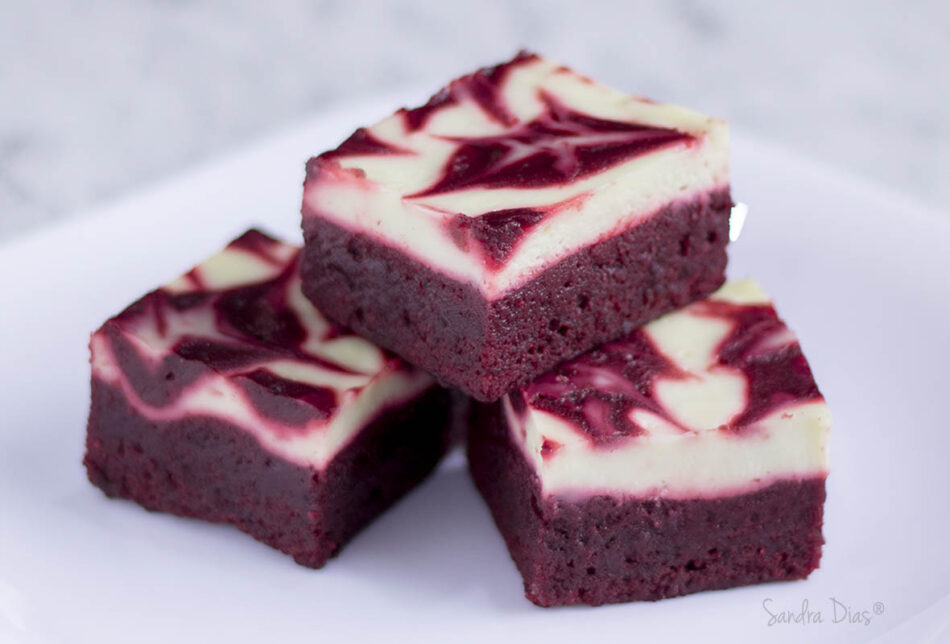 Brownie Red Velvet c/ Cheesecake
