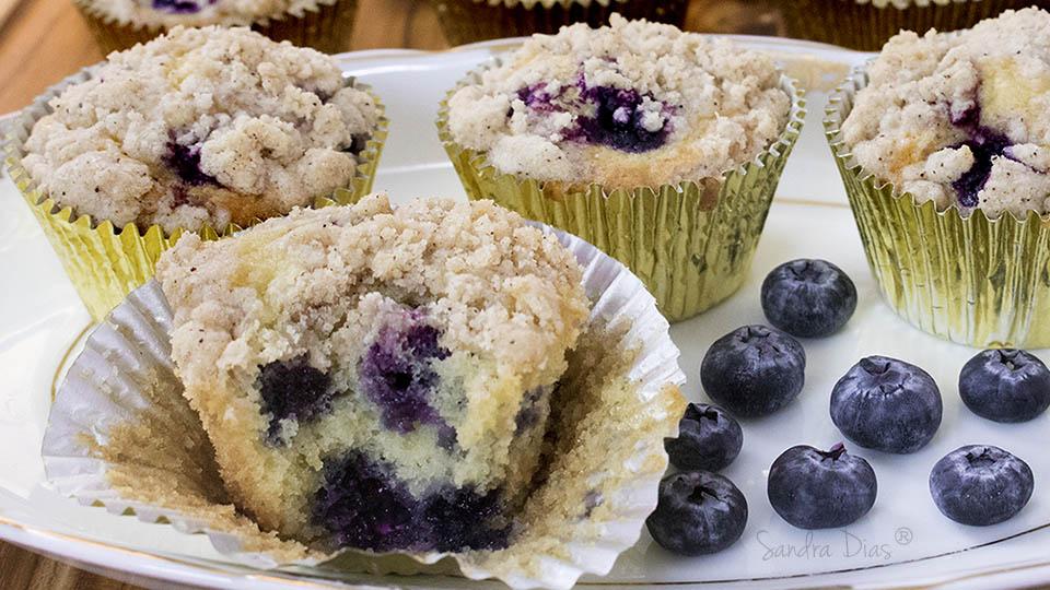 Cupcake de Baunilha e Blueberry