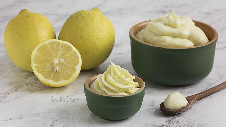 Ganache de Cream Cheese e Limão Siciliano