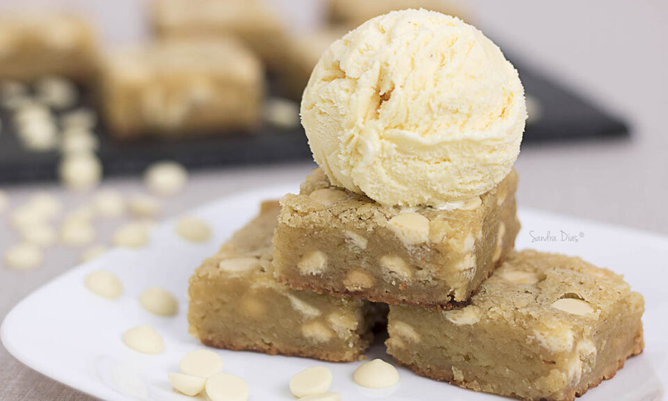 Blondie – O Brownie de Chocolate Branco