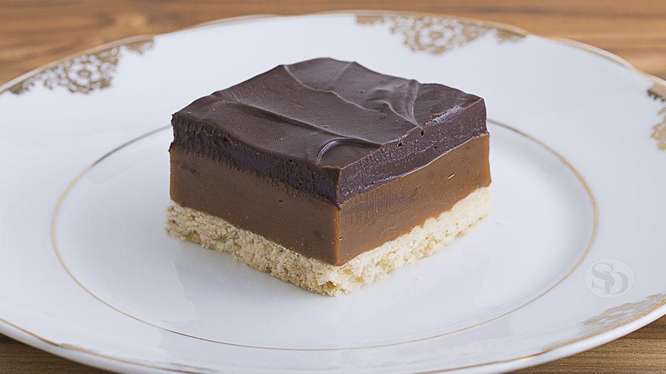 Barrinha de Caramelo e Chocolate
